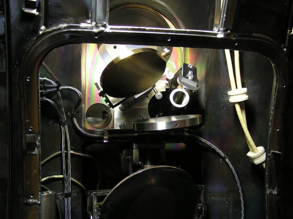 A view of the quasi-optical CTS receiver mirrors inside TEXTOR, Forschungszentrum Jülich, Germany