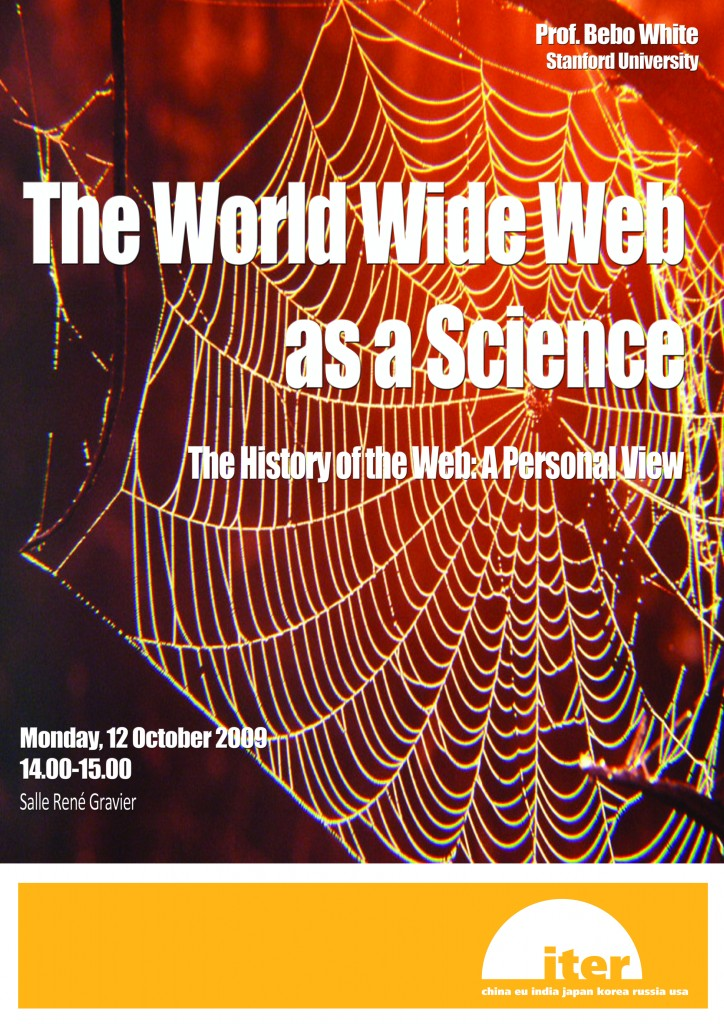 Monday's seminar will look at the history and the development of the World Wide Web.  (Click to view larger version...)