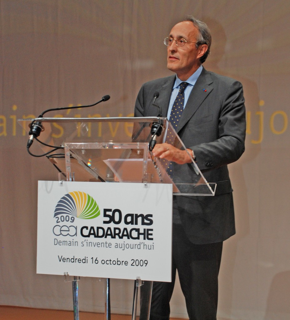 """What Cadarache is about,"" said Bernard Bigot CEA Administrator-General, ""is producing innovation."" (Click to view larger version...)"
