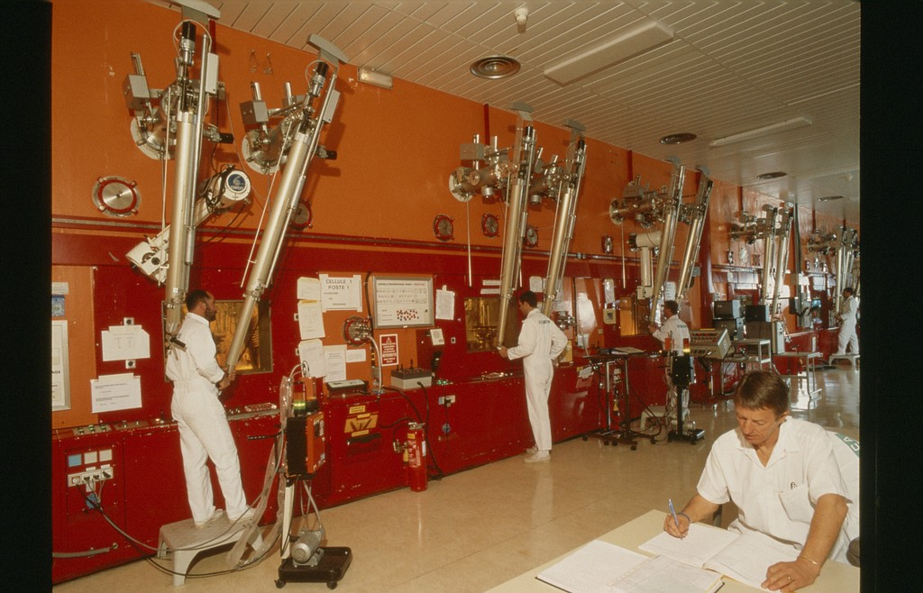 "The fabrication process of plutonium-based nuclear fuel was performed using a cascade of 450 sealed containers—so-called ""glove boxes."" Between 1964 and 2004, 350 tonnes of such fuel were manufactured in Cadarache's ATPu. 