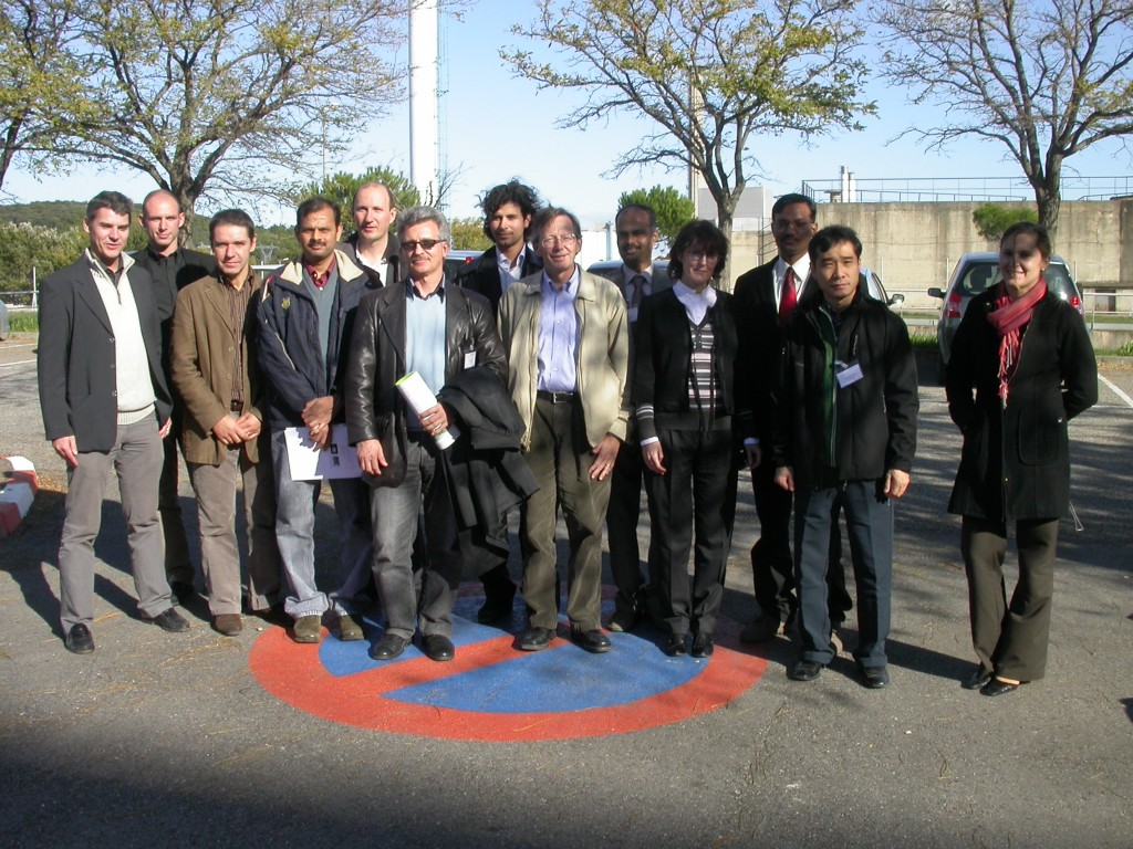 Members from the IO Civil Construction and Site Support Office, and the IO Radwaste, Remote Handling, Plant Engineering and Hot Cell Facility Sections in front of the ISAI (L'Installation de Surveillance des Assemblages Irradiés) facility, Marcoule, France on 6 November. (Click to view larger version...)