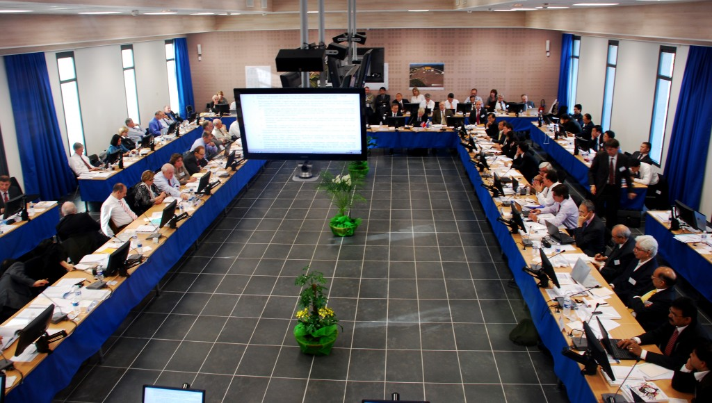 The ITER Council at work in the new conference centre at the Chateau in Cadarache. (Click to view larger version...)