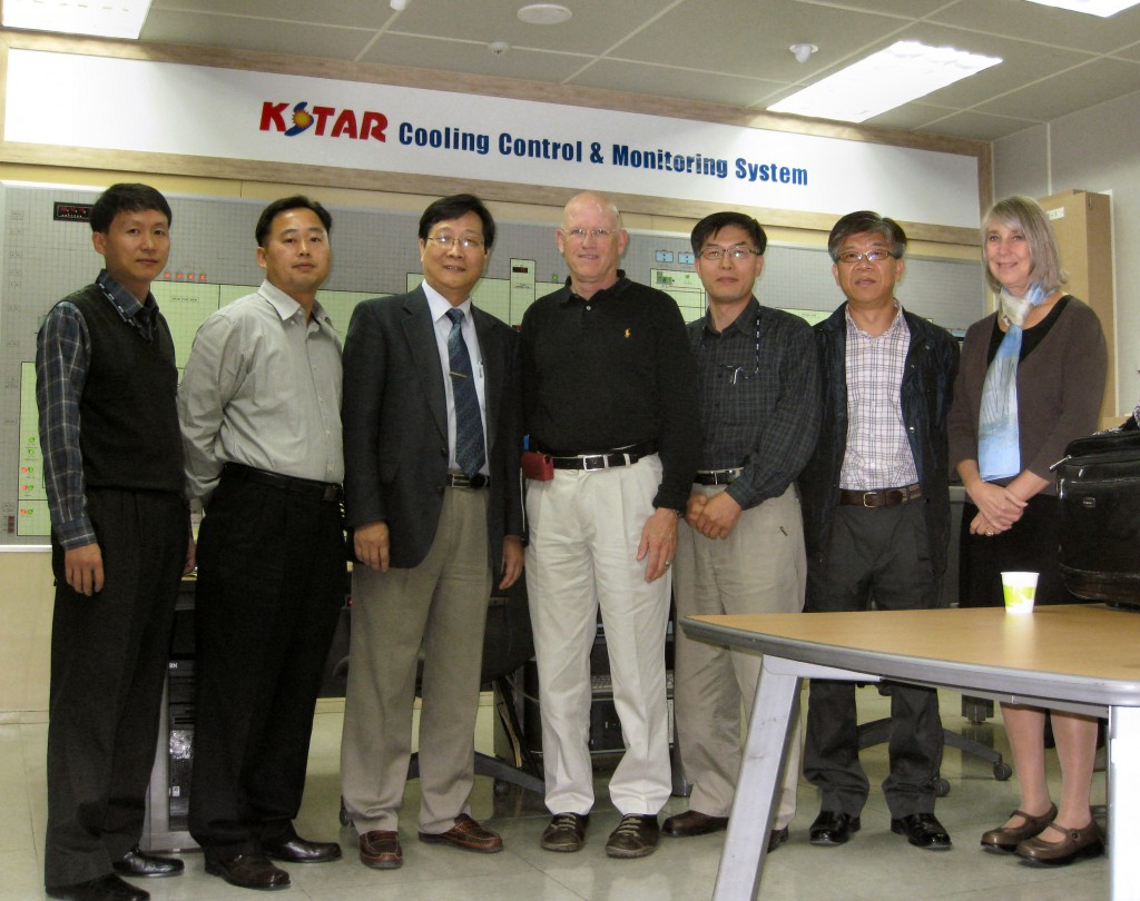 Left to right: Nam-Young Joung, K-STAR Cooling Water System engineer; Dongseak Im, K-STAR Cooling Water System engineer; Seokho Kim, US-ITER TCWS process specialist; 