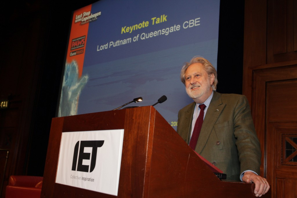Lord David Puttnam, Oscar-winning film producer, gave the keynote address.