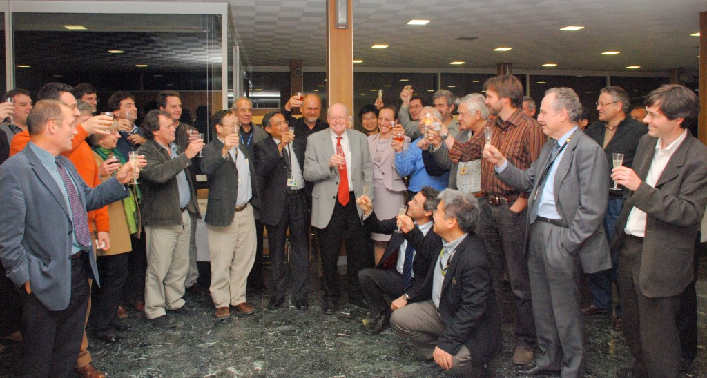 A toast to Alan Costley and a half-century of contribution to fusion physics. (Click to view larger version...)