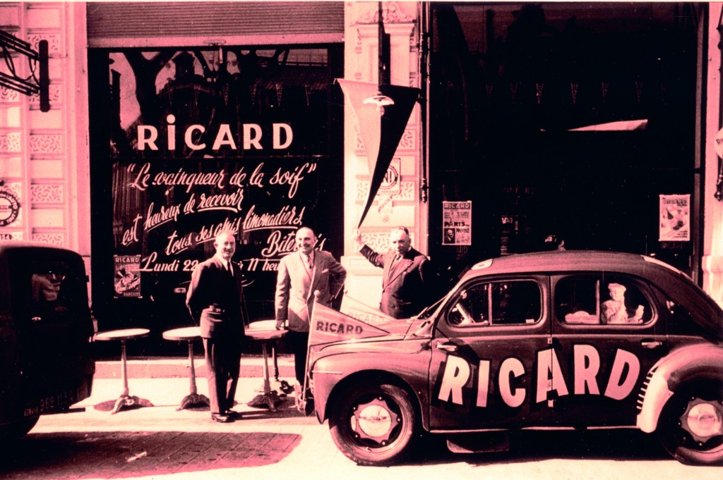 In post-WWII France, Ricard's company developed aggressive and innovative marketing techniques.