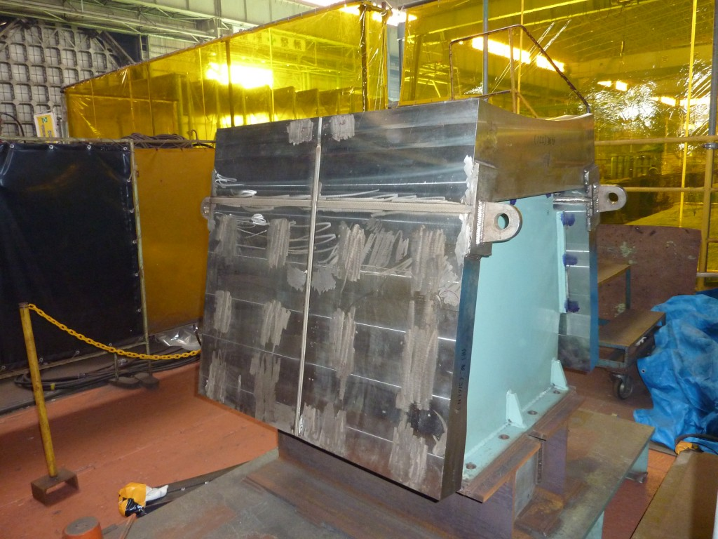A short piece of the toroidal field coil case for ITER was viewed at Kawasaki Heavy Industry, Japan.