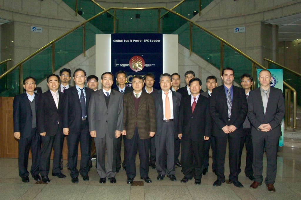 From left to right: Hyeon Gon Lee (Korean Domestic Agency, KO-DA), Jong Min Kim (KOPEC), Se Won Lee (ITER Project Manager KOPEC), DDG Yong Hwan Kim, Kijung Jung (KO-DA Director General), Joel Hourtoule (SSEN Section Leader ITER), Ingo Kuehn (Design Integration Section Responsible Officer, ITER). (Click to view larger version...)