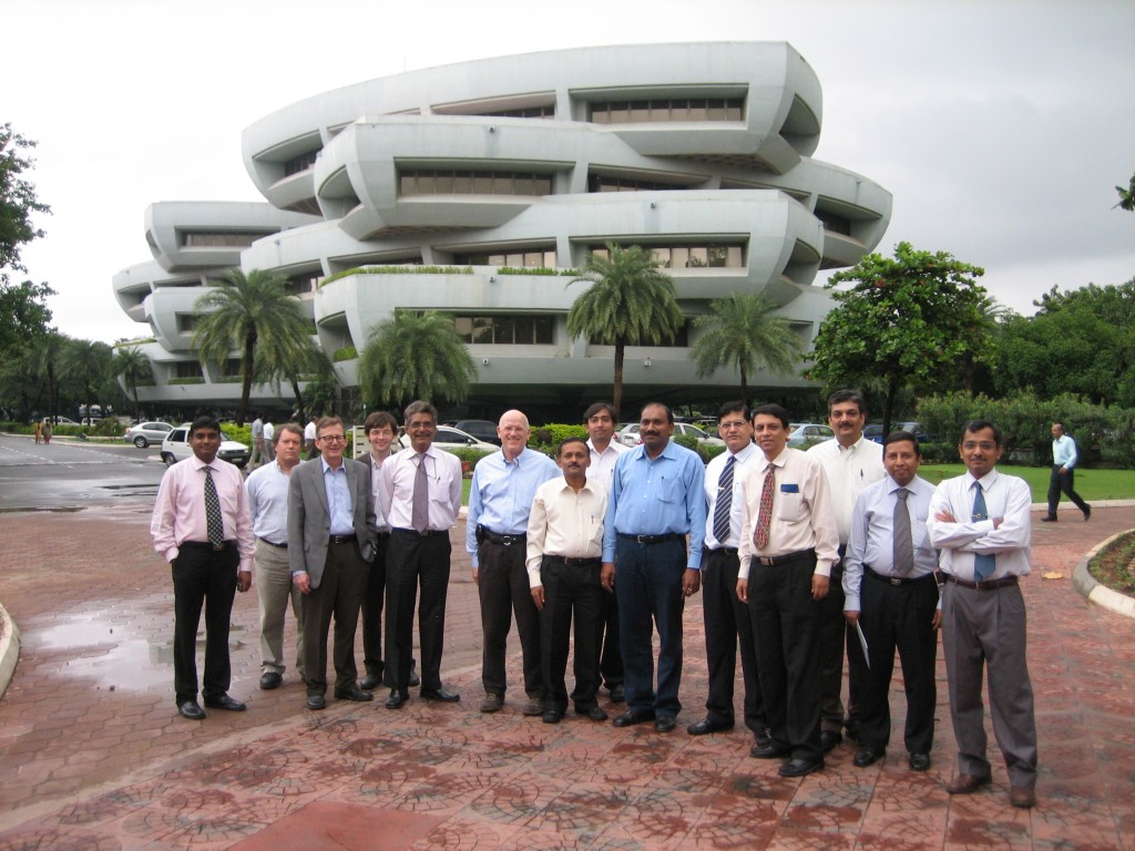The ITER team visiting the Larsen and Toubro offices in Chennai, India.  (Click to view larger version...)