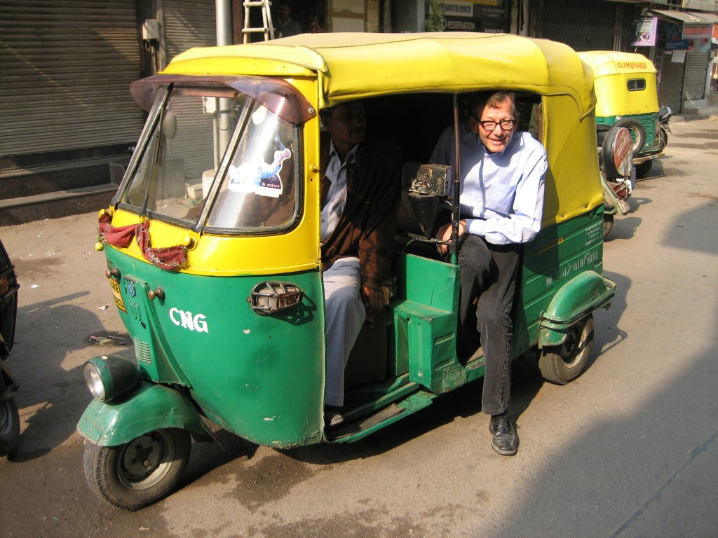 Dan Stout, CEP Plant Engineering Division Head, demonstrating the new economy-class travel policy during his visit to India. (Click to view larger version...)