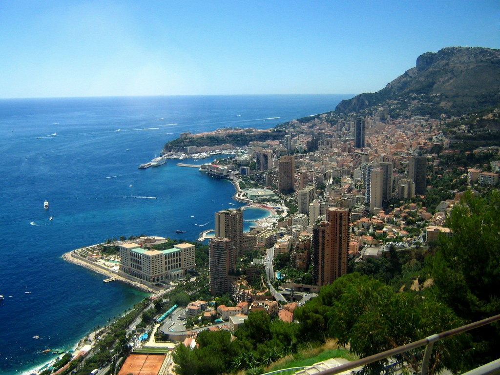 Monaco today: 200 hectares, 30,000 inhabitants (among them less than 6,000 Monégasque subjects) and a worldwide reputation.  (Click to view larger version...)