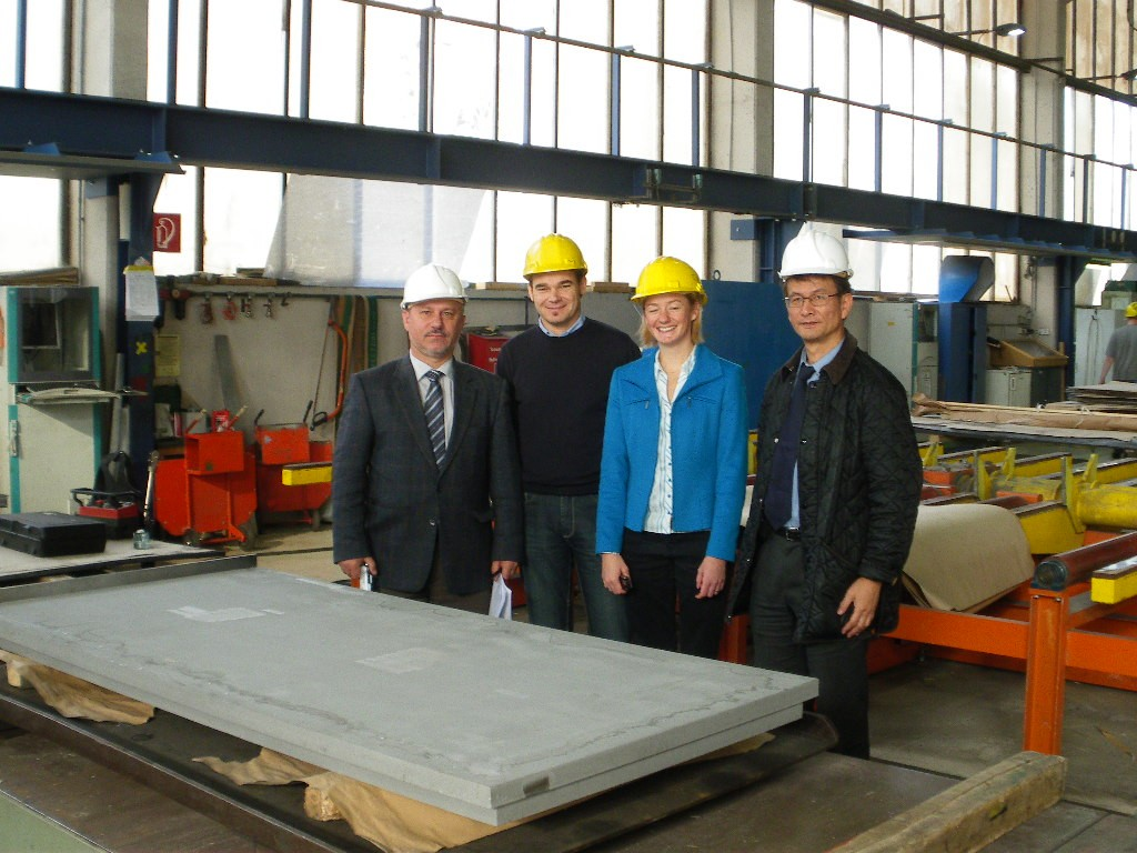 Vladimir Barabash (left) and Kimihiro Ioki (right) during their visit to the manufacturing site in Austria. (Click to view larger version...)
