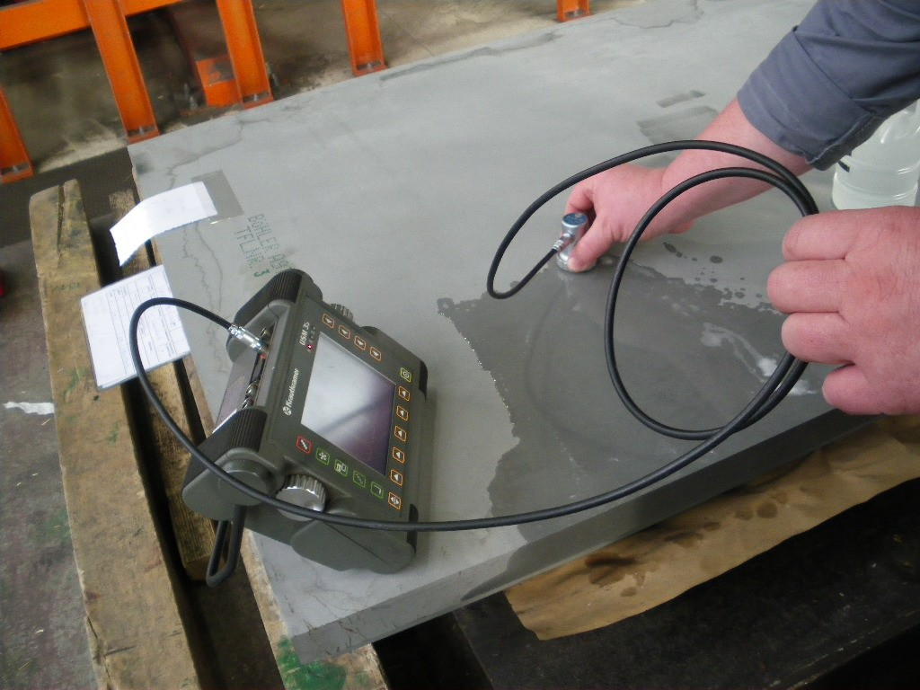 Ultra-sonic inspection for volumetric defect detection. (Click to view larger version...)