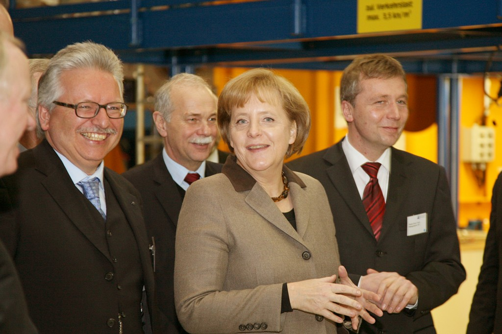 """Fusion,"" Merkel said, ""is a future technology worth investing in"". (Click to view larger version...)"