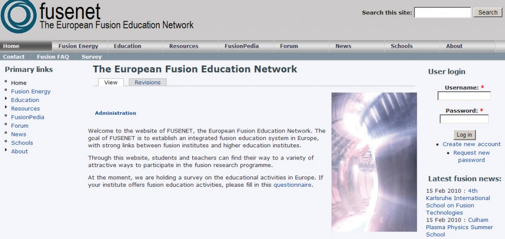 FuseNet is the name of the new tool aiming to enhance fusion training and education activities in Europe. (Click to view larger version...)