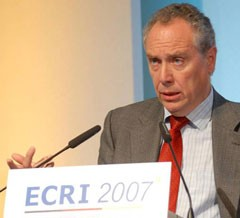 Carlos Alejaldre, ITER Deputy Director General for Safety & Security at the ECRI conference.