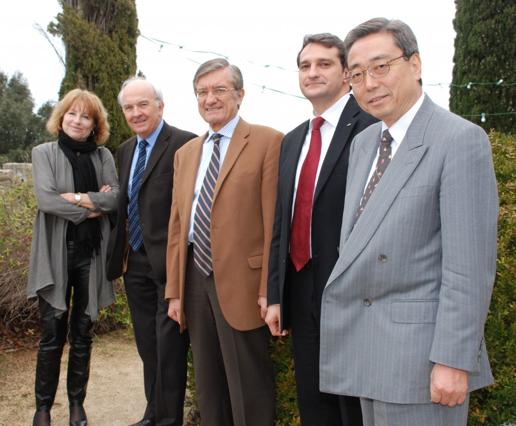 Left to right: Pascale Amenc-Antoni, Jean-François Bigay, Jean-François Cousinié, Patrick Blanes and Director-General Ikeda.