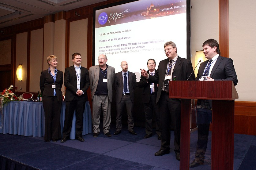 The finalists: ITER; EDF, the French utility company; the Young Generation Network of the European Nuclear Society; and a consortium of energy companies from Finland. (Click to view larger version...)
