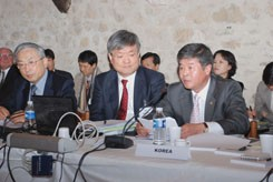 The Korean delegation at the ITER Council Meeting. (Click to view larger version...)