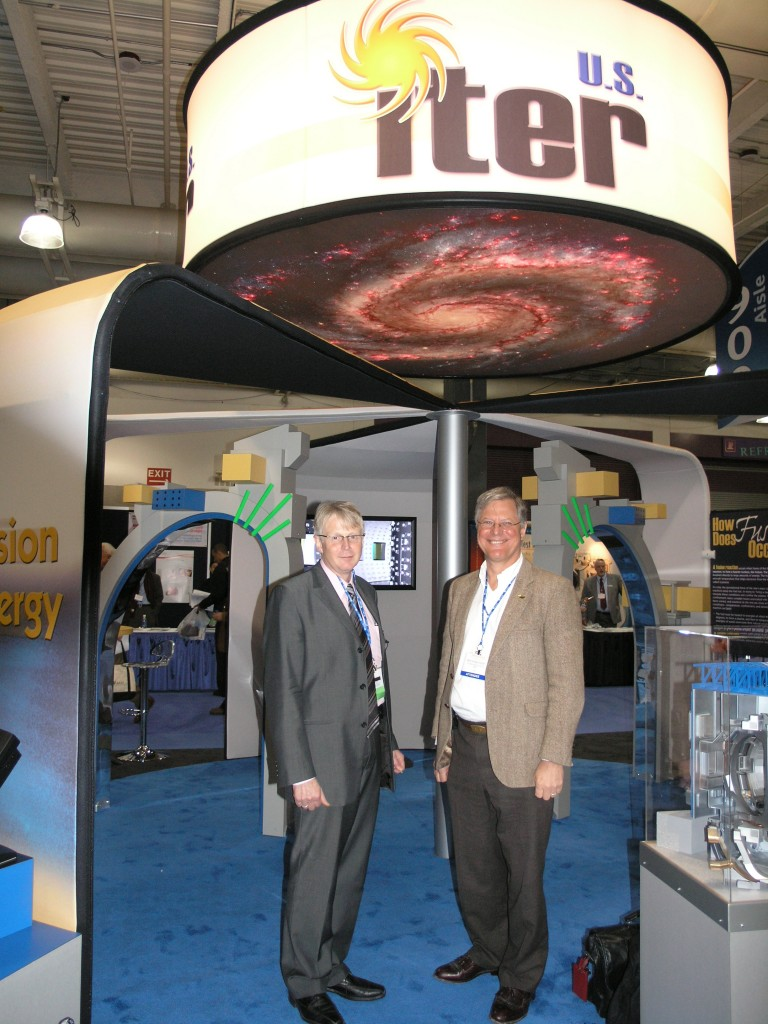 Norbert Holtkamp and Ned Sauthoff at the US ITER exhibit at this years AAAS.  (Click to view larger version...)