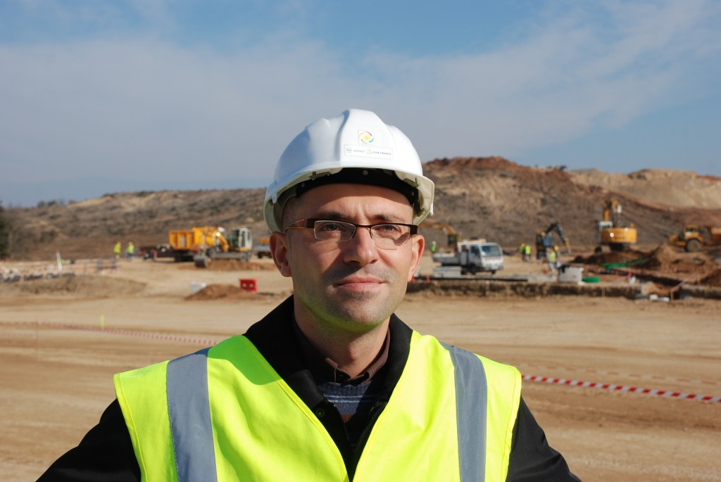 Jean Pavageau, Responsible Officer for the site layout and infrastructures. (Click to view larger version...)