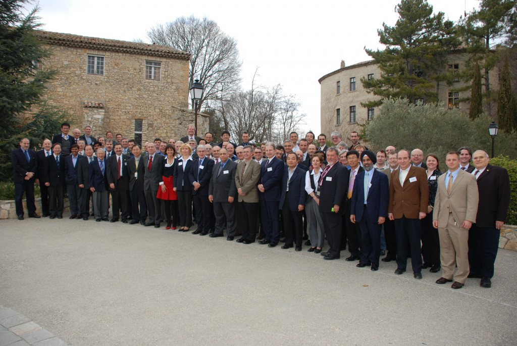 The Codes & Standards Meeting Attendees in front of the Château Cadarache. (Click to view larger version...)