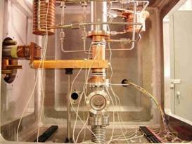 The twin-screw extruder assembly before insulation is installed. (Click to view larger version...)