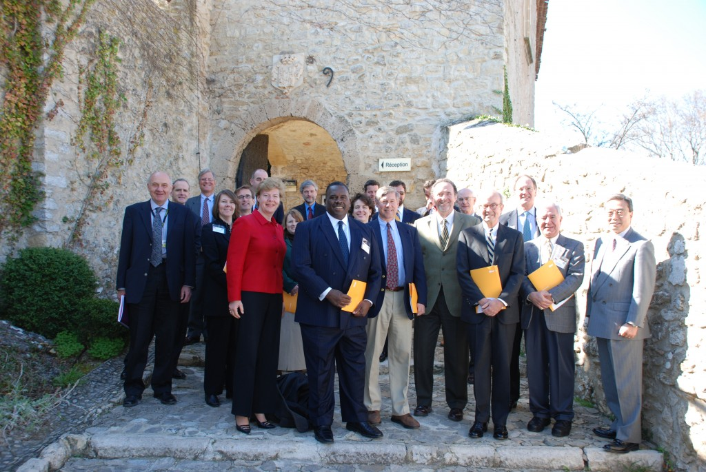 The US Congressional delegates in front of the Château Cadarache last week.