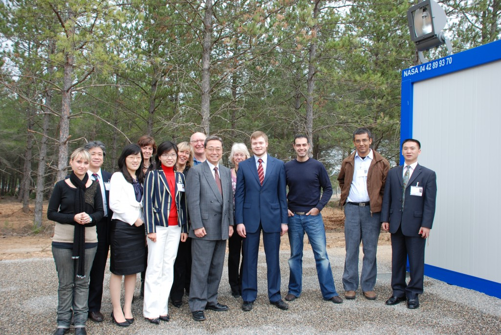 One goal, one voice: The International ITER Communications Team (with DG Kaname Ikeda) at the first meeting in Cadarache.