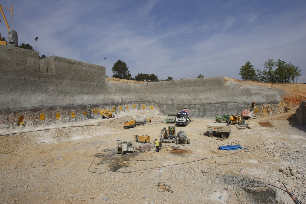 Another site under construction: the excavation works for the Jules Horowitz reactor. (Click to view larger version...)