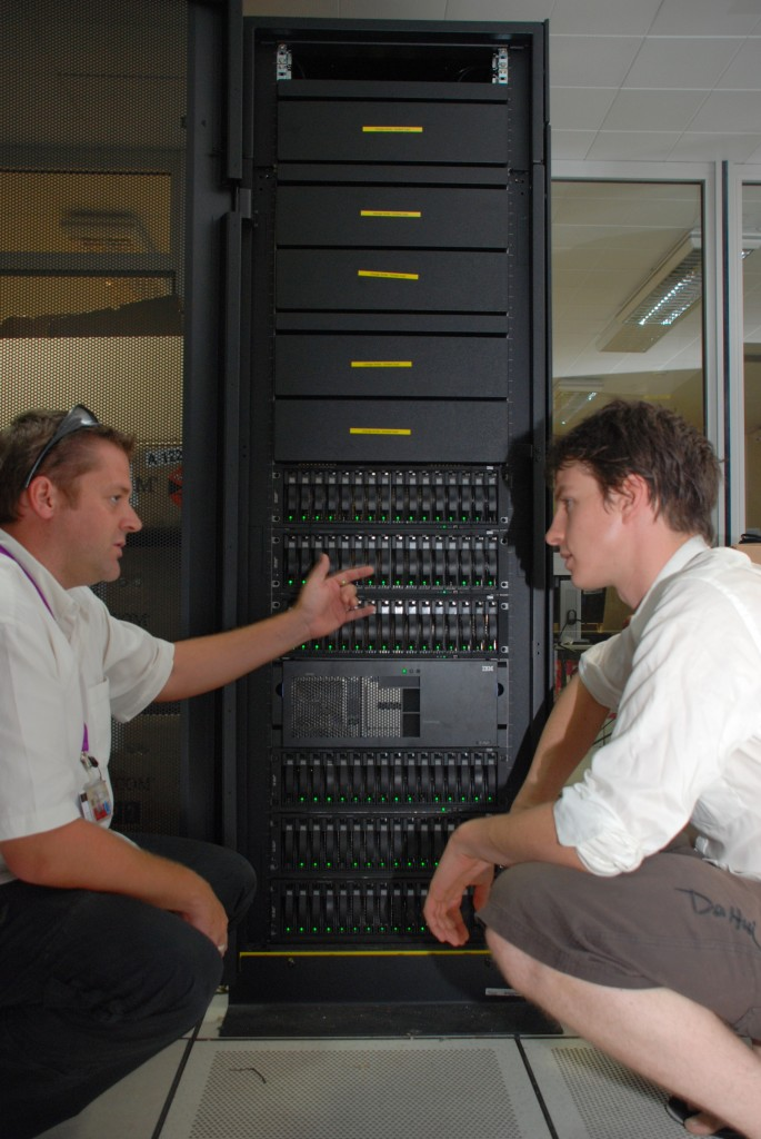 Cedric Chaumette (left) from the OSIATIS team and