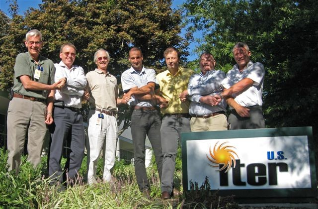 Left to right Walt Gardner (US), Robert Pearce (IO), Larry Baylor (US), Curt Gliss (IO), Jean Louis Bersier (IO), Dave Rasmussen (US), Liam (IO).