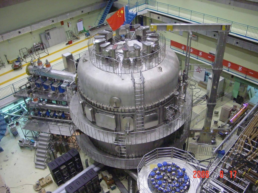 The EAST superconducting tokamak.