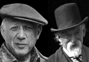 Pablo Picasso and Paul Cézanne. (Click to view larger version...)
