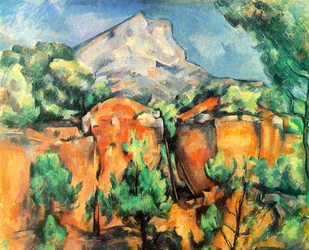 Cézanne, who was born in Aix in 1839, has left us more than 80 paintings of Mount Sainte-Victoire. This view from the quarry in Bibemus was painted in 1897. © The Baltimore Museum of Art (Click to view larger version...)