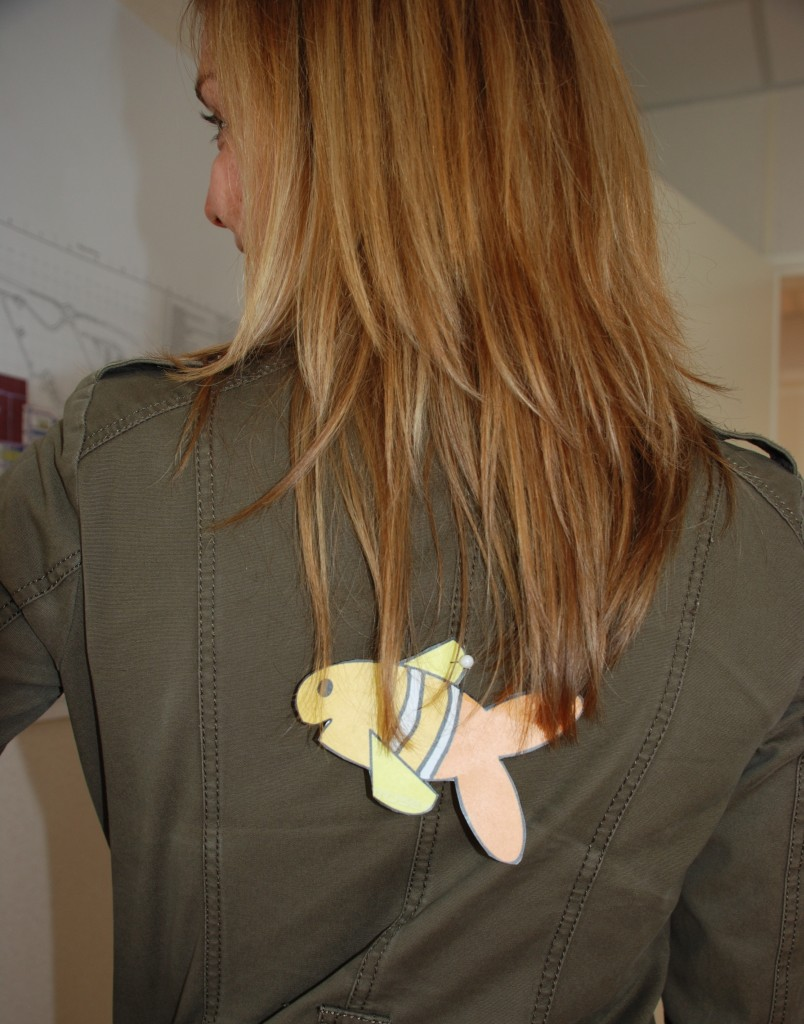Watch out! On Wednesday you may end up with a paper fish pinned to your back. (Click to view larger version...)
