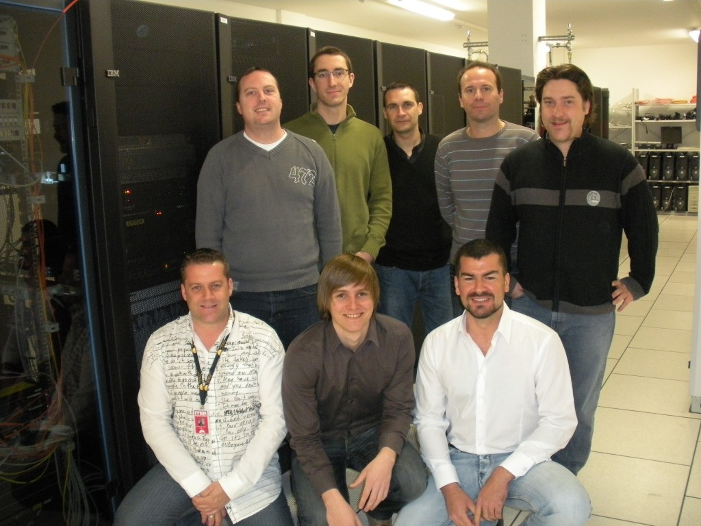 The Osiatis team, in charge of server room operations within IT. (Click to view larger version...)