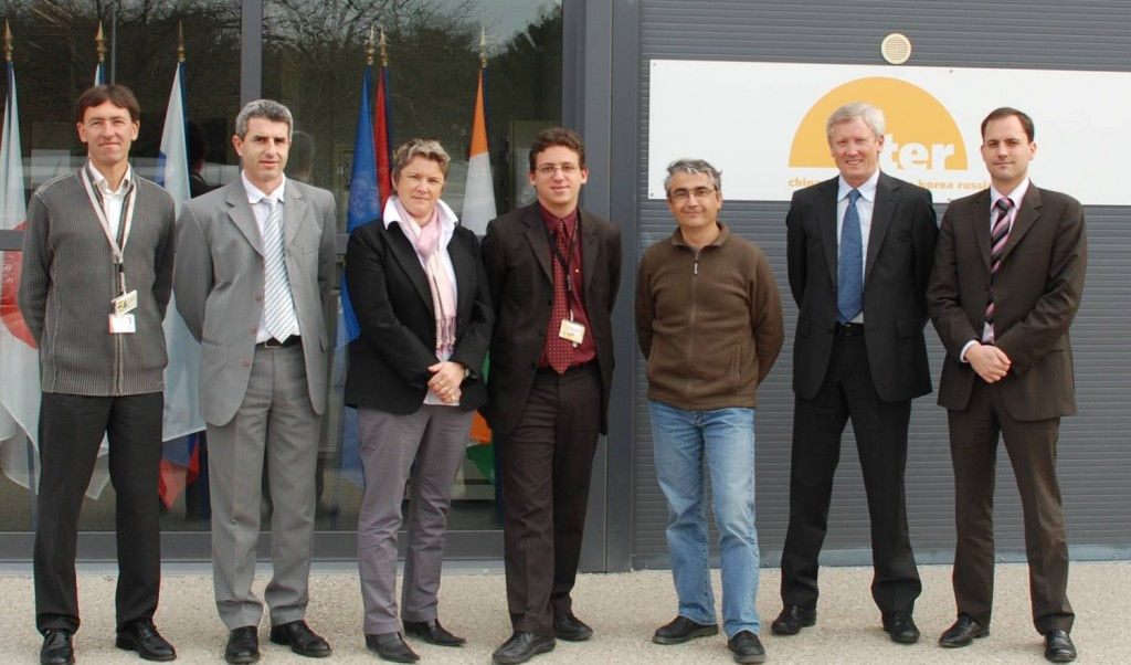 The AREVA TA Consortium core team. From left to right : Dominique Charlaix, Didier Derbesy, Ingrid Durand, Laurent Vinci, Michel Brun, Christian Serre, and Axel Lavarde. (Click to view larger version...)
