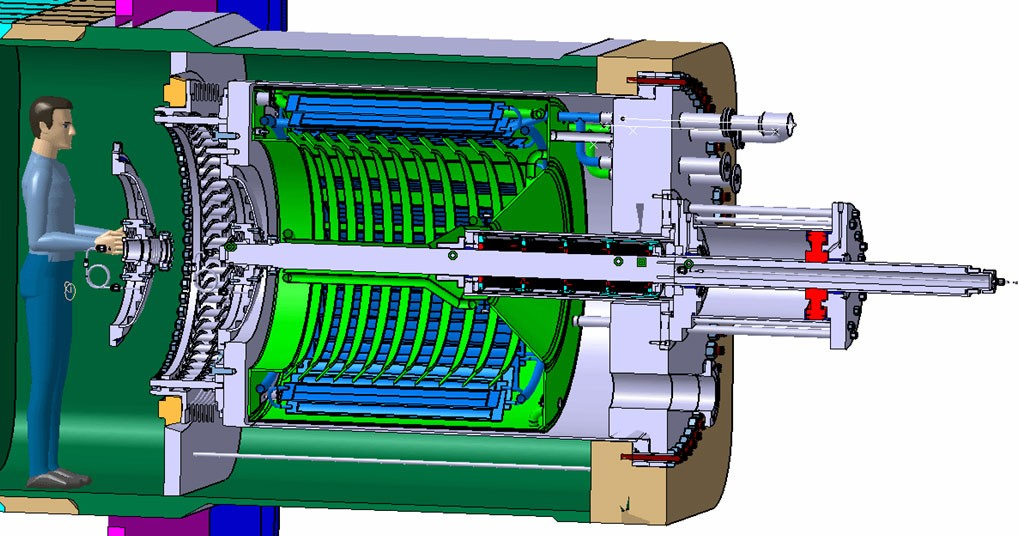 Model of ITER cryopump. (Click to view larger version...)