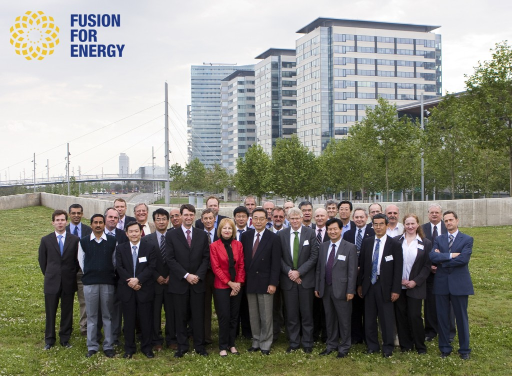 The representatives of the ITER Organization and the seven Domestic Agencies during their recent coordination meeting in Barcelona. (Photo: F4E)  (Click to view larger version...)