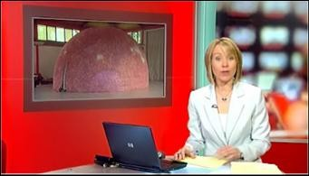 The inflatable gateway to the solar system made it to the BBC newsdesk.