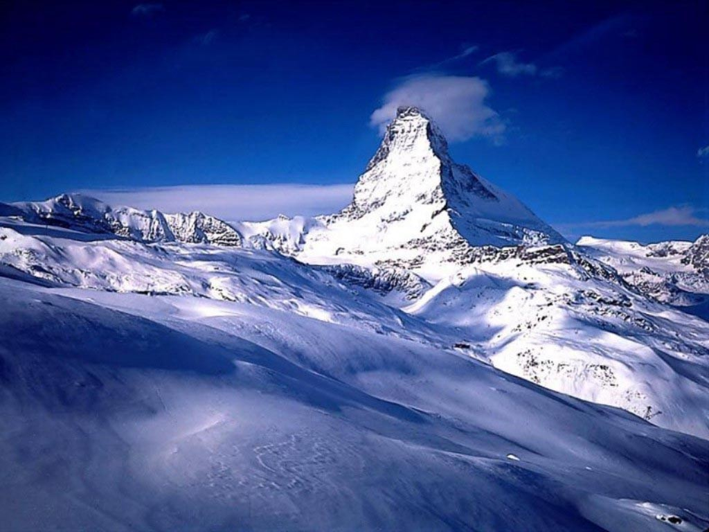The longterm presence of the snow atop Switzerland's most famous mountain, the Matterhorn, may indirectly depend on the success of fusion energy. (Click to view larger version...)
