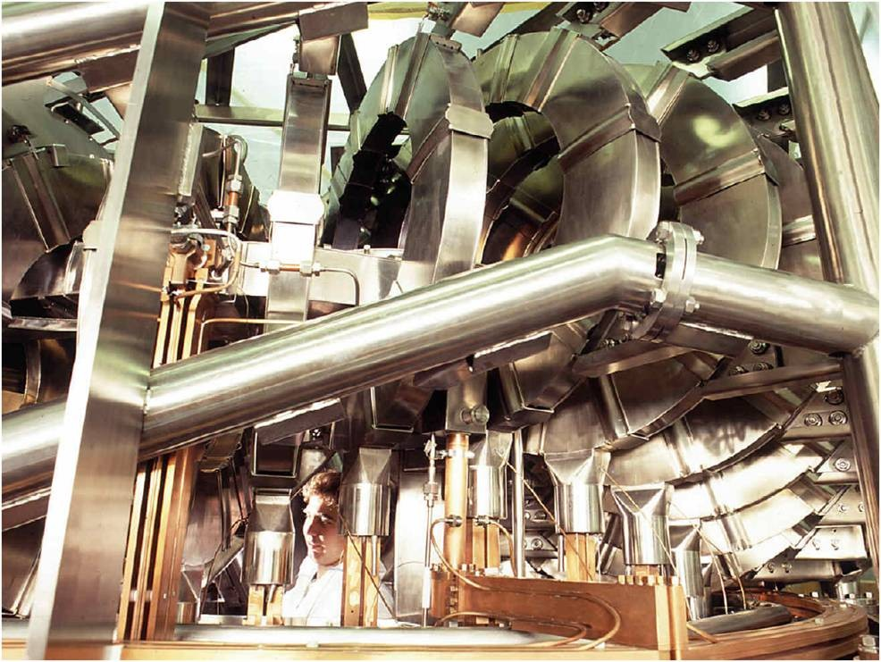 The H-1 is a three-field period helical axis stellarator located in the Research School of Physical Sciences and at the Australian National University.