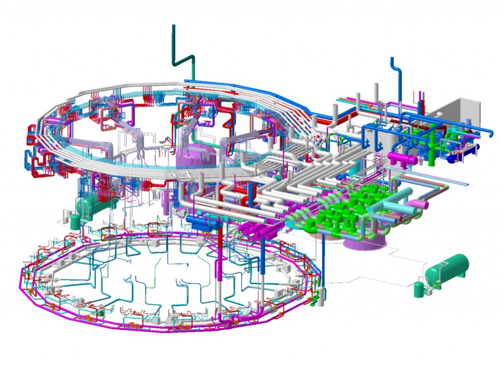 Tokamak Cooling Water Systems overall view (Click to view larger version...)