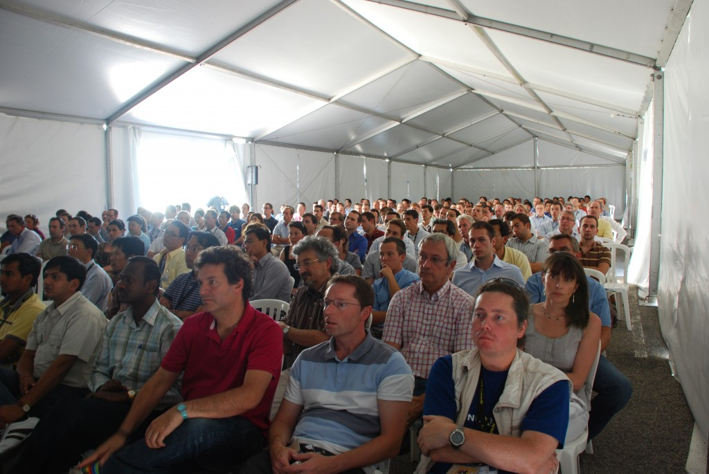 All-ITER staff meetings nowadays require a tent. A big tent. (Click to view larger version...)