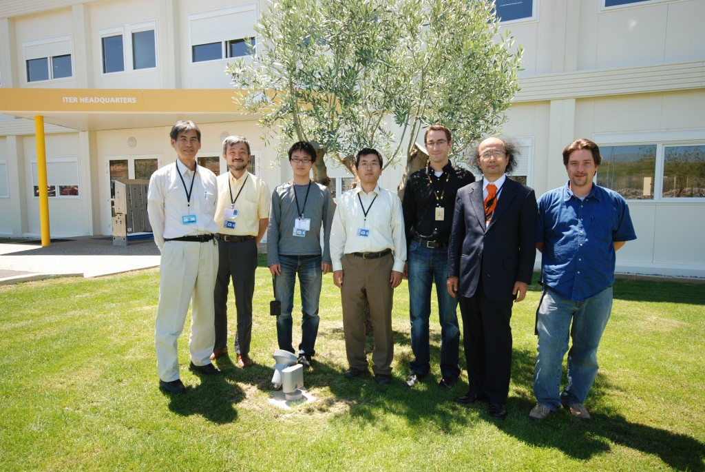 Professor Hiraki and his team came to test their record-breaking data transfer technique at ITER. (Click to view larger version...)