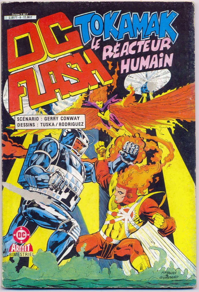 """Tokamak the Human Reactor"" first appeared in a 1983 pulp from DC Marvel. It was adapted in French in 1986. (Click to view larger version...)"