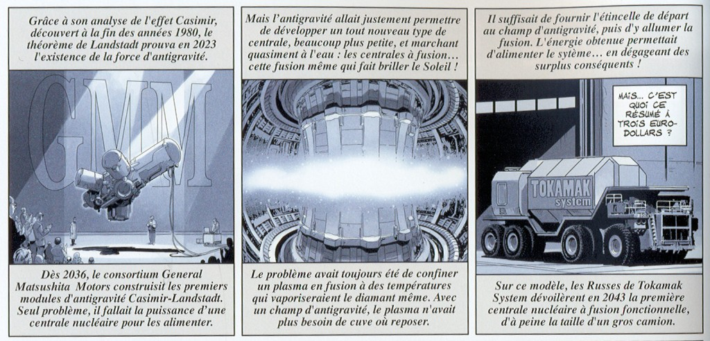 "In 1998, ""Universal War One,"" a six-part French comic book series, anticipated the construction of the first industrial fusion plant in 2043. (Click to view larger version...)"