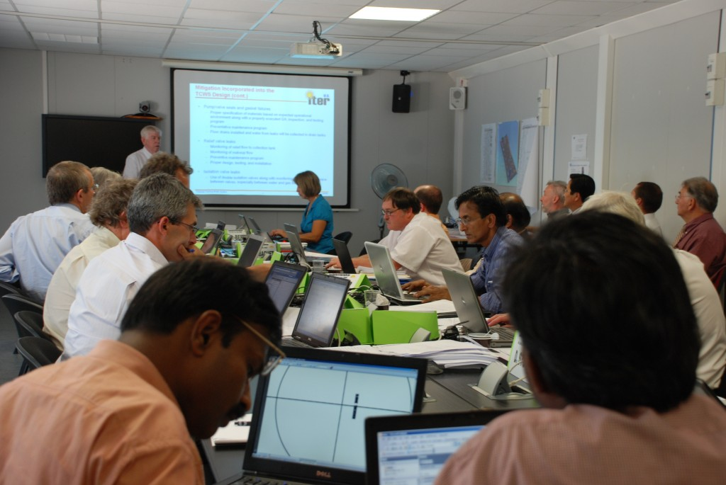The participants during this week's conceptual design review of the ITER cooling water system. (Click to view larger version...)