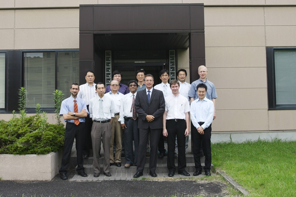 The participants to the recent RAMI workshop in Naka (left to right): J. Izquierdo (Europe), S. Kitazawa (Japan), I. Neyatani (Japan), Y. Zhao (China), J.H. Young (Korea), B. Sarkar (India), Y. Huating (China), D. van Houtte (ITER-Chairman), S. Lee (Korea), F. Sagot (ITER), K. Ueno ( Japan), K. Okayama (ITER), T. Tollefson (Japan - Secretary). (Click to view larger version...)